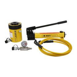 20 Ton piston creux à action simple pour la vente des vérins hydrauliques