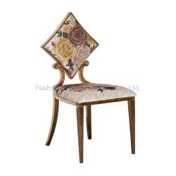 Место для развлечений Простое свадьбы место установки Diamond назад букет из текстиля ресторанов стулья