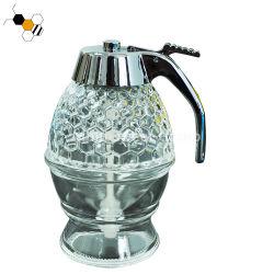 Het nieuwe Glas van Dispeser van de Honing van de Kruik van Dispeser van de Honing van de Bij van het Kristal Acryl