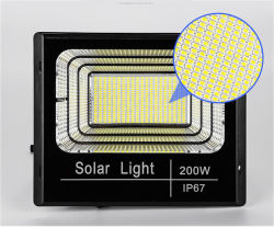 IP67 أمن حديقة خارجي 25 واط بقدرة 40 واط، 60 واط، 100 واط، 200 واط، طاقة شمسية ضوء LED غامرة كهربائي
