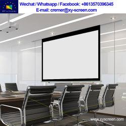Xysreen HD motorisierte elektrischen Projektions-Bildschirm mit Fernsteuerungs/3D HF-Wand-Montierung rollen oben Projektor-Bildschirm
