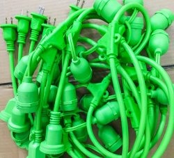 Cadena de Cable de extensión de la luz de LED con la aprobación de UL, cUL