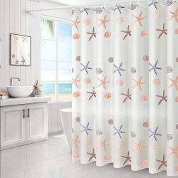 新しいデザイン浴室のための現代簡単な印刷されたシャワー・カーテン