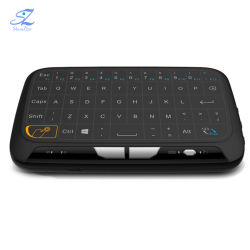 H18+2.4GHzの人間の特徴をもつTVボックスパソコンスマートなTVボックスのためにリモート・コントロール小型無線クワーティーの完全なタッチパッドキーボード