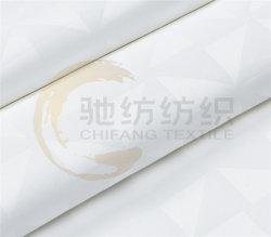 De Katoenen van 100% Witte Stof van de Jacquard 300t voor het Linnen van het Bed van het Hotel
