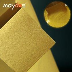 Revestimiento de pared metálico de la arquitectura a base de agua pintura de oro para metal