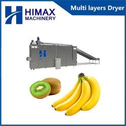 Kiwi manzana de la correa de hojuelas de pelo de la correa de la máquina La máquina de secado
