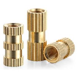 M8m10完全なシリーズはくだらない銅クランプ注入の銅の挿入タイプに二重方法ナーリングによって埋め込まれたナット刻みをつけた