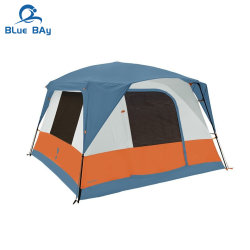 Bluebay 4 Pessoa Camada Dupla cabina impermeável tenda para Camping Caminhadas