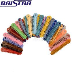 Zahnmedizinisches Material-formte gemischter Farbstreifen orthodontische elastische Verbindung-Gleichheit