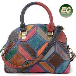 Moda Mujer Bolso Patchwork Fábrica de bolsos al por mayor de la bolsa de cuero el GGA5354