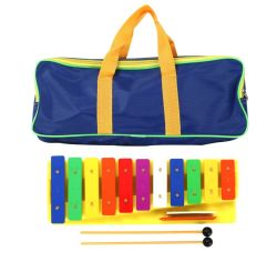 De hete Verkopende Muzikale Instrumenten van de Percussie van Metallophone Glockenspiel van de Regenboog Kleurrijke voor Baby
