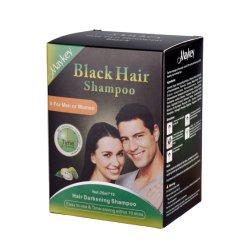 흑발 샴푸 - 즉시 흑발 염료 샴푸 흑발 염료는 5 분 2 달을%s 머리 색깔을 남자와 여자 25mlx10 팩을%s 유지한다