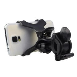 Soporte Universal Ajustable teléfono Smartphone bicicleta Bicicleta aluminio manillar soporte para teléfono