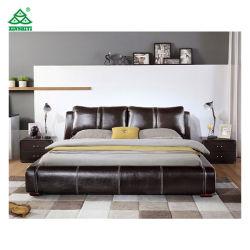 Design europeu PU Couro Modelos Queen em madeira, cama Queen Size