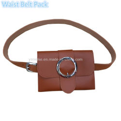 Dame à la mode en cuir élégant sac à la taille de la courroie accessoires