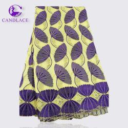 Haute qualité de la broderie de la dentelle de coton africains de tissus pour robes de mariée