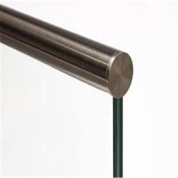 أنبوب من الفولاذ المقاوم للصدأ الألومنيوم 10 مم سمك بدون إطار شرفة الزجاج