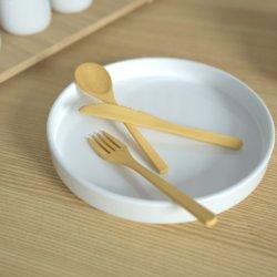 ピクニック党50本のナイフのスプーンのために友好的な木の食事用器具類一定の使い捨て可能な生物分解性の木製のEcoは分岐する