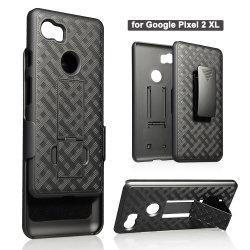 Cas de téléphone cellulaire avec clip ceinture pivotant en plastique étui Téléphone Mobile PC béquille cas Combo pour Google XL 3