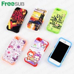 Teléfono de la impresión de sublimación Freesub caso con funda de silicona para iPhone5