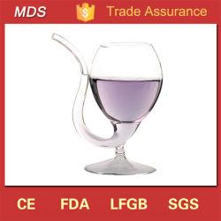 Высокая Боросиликатного Скелетный вампир красного вина из стекла с питьевой трубки соломы