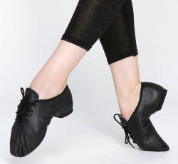 D004715 Dttrol negro y marrón de cuero auténtico encaje hasta Oxford Danza Jazz Zapatos para hombres y mujeres