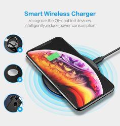 Type-C Qi chargeur sans fil Ultra Slim Pad pour Portable Samsung/iPhone/Huawei Charge de périphériques