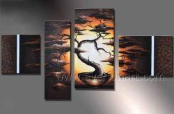 10 ans l'équipe de l'artiste 4 panneaux de décoration murale moderne paysage4-036 Peinture d'huile (LA)