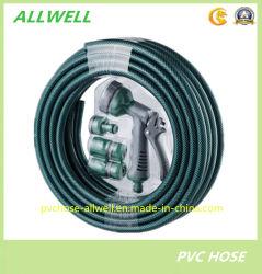 PVC Car-Washing renforcé par une tresse fibre plastique flexible avec pistolet de pulvérisation