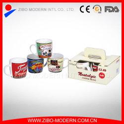 4PC Set Ceramic Coffee Mug met Gift Box (GP1010)