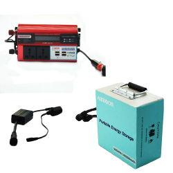 Invertitore portatile di vendita caldo della stazione IP67 di conservazione dell'energia 12V mini con l'invertitore di potenza della batteria con costruito nel caricabatteria