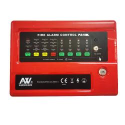 4 zones du panneau de commande d'alarme incendie conventionnels avec 2 fil