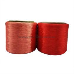 Des échantillons gratuits recyclés 50d 75D 100D 300D 600D FDY DTY le tissage de fils de filaments de polyester pour étiquette tissée