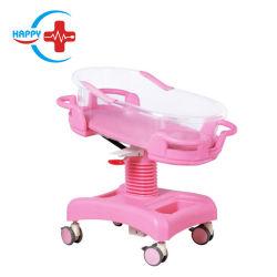 ガスばねの赤ん坊のトロリー環境のABS病院のカートの新生児のベビーベッドのベッドによって調節可能なHc-M024デラックスなHeight&Angle