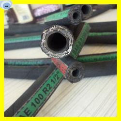 Dois fios de aço HLE Braid Mangueira do Óleo Hidráulico