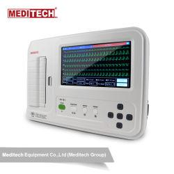 Meditech EKG6012 Pantalla táctil de 12 derivaciones Electrocardiograma Electrocardiograma máquina de ECG con Software para PC y el conector USB.