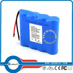 Оборудование для медицинских устройств аккумуляторной батареи 14,8 V 2200Мач Li-ion аккумуляторов размера 18650