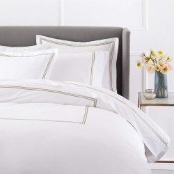 Van het Katoenen van 100% Reeks van uitstekende kwaliteit de Witte Beddegoed van het Hotel