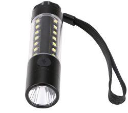 3W Aluminium Multifunktions wiederaufladbare LED-Taschenlampe 360 Grad Licht 6 Blitzmodi