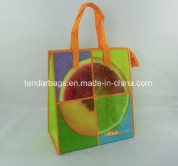 フルカラーの印刷された絶縁されたショッピング・バッグの熱クーラーの昼食のトートバック