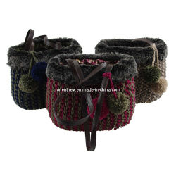 Bolsas de lana tejido a mano