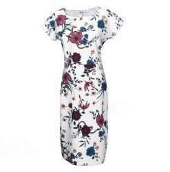 Vestito causale dalle donne del nuovo di stile di modo di estate della pianta del fiore della stampa di Short del manicotto involucro delle donne maxi