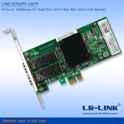 Набор микросхем Intel I350 Pcie X1 1g с двумя портами SFP порт Fiber Network Card совместимых I350-F2