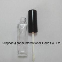 Cosmétique Brillant à Lèvres bouteille en verre avec essuie-glace et de la brosse