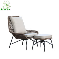 Moderne Leisure stoel Outdoor Rattan stoel Patio Wicker tuinmeubelen Chaise Lounge