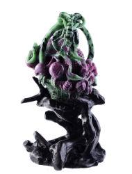 Arti intagliate vermiglie naturali delle sculture del cestino dei fiori & di frutta di Zoisite, Figurine a cristallo (Y10)