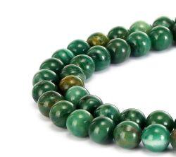 África Natural Piedra de Jade redondo liso cordones sueltos pueden hacer joyas pulseras y collares y una variedad de joyas de moda 4mm 6mm 8mm 10mm 12mm 14mm