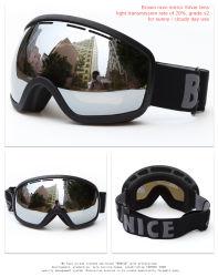Дети снега очки распоряжении дурального мешка полость объектив TPU рамы индивидуального логотипа