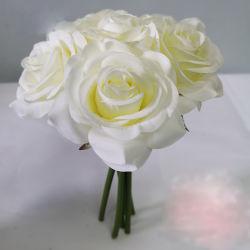 Rosa di seta all'ingrosso fiorisce il mazzo dei fiori artificiali della decorazione di cerimonia nuziale